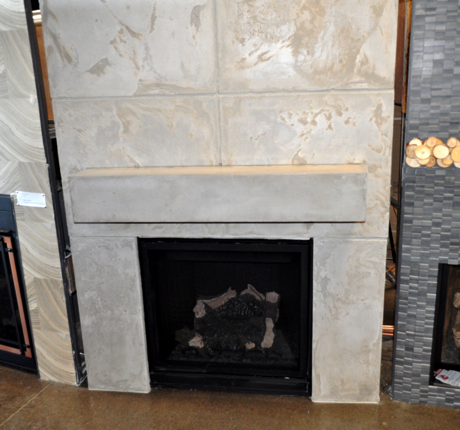 surround design home ideas fireplace cost concrete